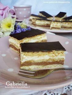 Gabriella kalandjai a konyhában :): Kedvenc szelet Hungarian Recipes, Cake Cookies, Nutella, Cake Recipes, Food And Drink, Cooking Recipes, Yummy Food, Sweets, Chocolate