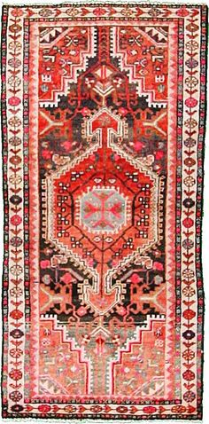 2' 5 x 5' 1 Red Hamedan Area Rug
