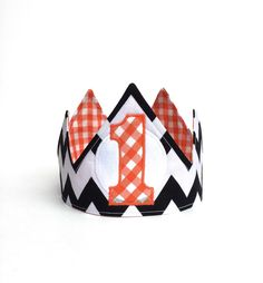 Halloween Birthday - Boy First Birthday - Girl first Birthday - First Birthday Crown - First Birthday Hat - pinned by pin4etsy.com