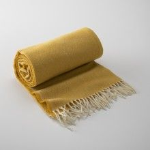 Gold Merino Wool Throw