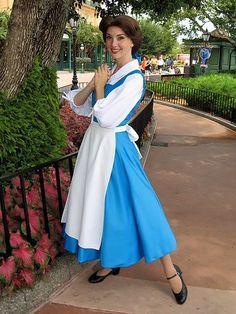 fashion for belle blue dress costume for women