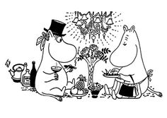 Moomin coloring pages
