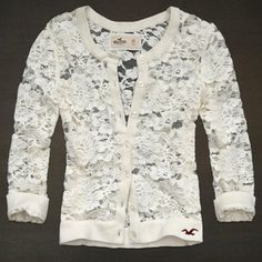 Hollister lace cardigan