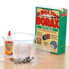Slime Party - Elmer's Glue Borax Recipes - The Lab