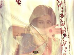 Aishwarya Rai in the Bollywood film, Devdas. Costume design by Neeta Lulla.