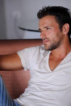 #Nikos_Vertis | by Sophie Sofaki Beautiful Men Faces, Gorgeous Men, Beautiful People, Milo Ventimiglia, Greek Icons, Greek Men, Greek Culture, Greek Music, Famous Singers