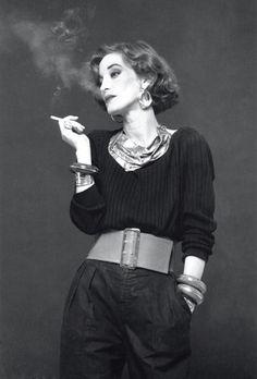 Loulou de la Falaise for Madame Figaro editorial.