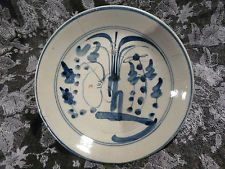 ANTIQUE CHINESE PLATE  MISSHAPEN 18TH C 15CM DIAMETER