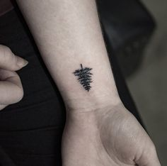 Tree Tattoo on Wrist by Georgia Grey