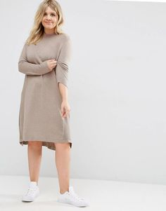 ASOS CURVE Tunic Dress In Cashmere Mix
