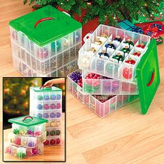 Christmas Ornament Storage Box Makes Putting Away And Taking Out The Holiday Decorations Bows