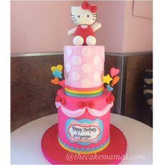 Hello Kitty cake by @thecakemamas