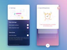 Settings + Quick Responses (Ncalendar app)
