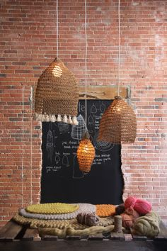 Amulette-the amazing work of Annie Legault Suspension Diy Luminaire, Deco Luminaire, Dremel 3000, Fabric Lampshade, Lampshades, Crochet Lampshade, Home Decor Accessories, Decorative Accessories, Diy Abat Jour