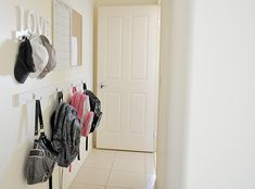 {The Organised Housewife} School Bag Nook