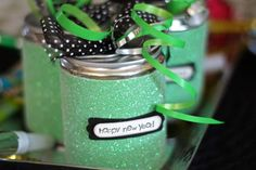 Do-It-Yourself Sparkling New Year's Eve Party Favors