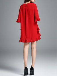 Ruffled Cotton-blend Mini Dress