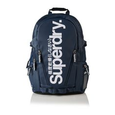 Superdry Mega Ripstop Tarp Backpack ($75) ❤ liked on Polyvore featuring men's fashion, men's bags, men's backpacks, navy, mens backpacks and mens laptop backpack