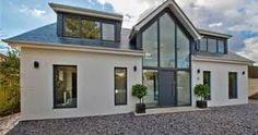 House Exterior Bungalow Dreams Ideas For 2019 Bungalow Extensions, House Extensions, Modern Bungalow House Design, Modern Bungalow Exterior, Bungalow Ideas, Bungalow Hallway Ideas, Bungalow Designs, Modern Glass House, Bungalow Conversion