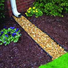 Downspouts help divert water away from your home, preventing damage to your foundation and potential flooding in your basement. #frontyardlandscaping