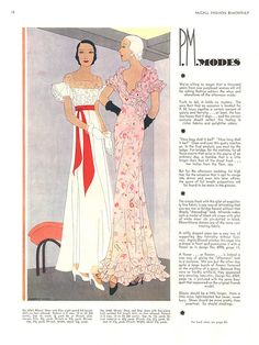 Fashions for the year of 1932.