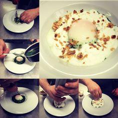 Eccola la nostra #frittata riproposta come un #uovo gourmet  cotto a #bassatemperatura con i #sapori e i #gusti della tradizionale frittatina a primaverile : costine sbianchite liquido di erba di San Pietro e mazzetto di erbe per frittata fatto frullando il tutto con un po di acqua di cottura #crispy e spuma di #parmigiano #gourmet #chef #instafood #picoftheday #mondovi #gourmetfood #culinary #theartofplating #gastronomy #foodie #foodpic #foodpicoftheday #foodphotography #foodstyling #food…