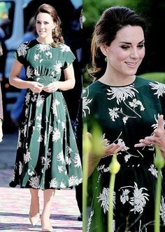 The Duchess of Cambridge arrived at the Chelsea Flower Show wearing a dress by designer ROCHA PARIS May 22 2017 Looks Kate Middleton, Kate Middleton Outfits, Princess Kate Middleton, Pippa Middleton, Duchesse Kate, Kate Dress, Kate And Meghan, Mode Outfits, Elegant Outfit