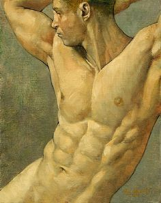 """Figure Study, Ron Griswold, oil on canvas.        Ron's work is on the cover of """"100 Artists of the Male Figure"""" and he is featured in the first edition of """"The Art of Man.""""        http://www.theartofman.net         http://www.100artistsbook.com"""