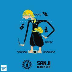 Sanji Wayang One Piece - Straw Hat Pirates by Manzur Ghozaali, via Behance