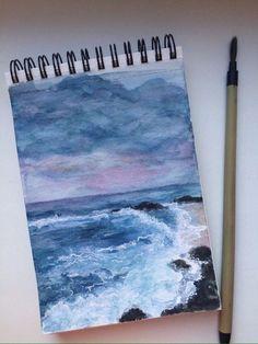 Beautiful ocean painting.