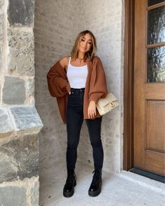 Simple Fall Outfits, Fall Winter Outfits, Stylish Outfits, Cute Outfits, Casual Fall Fashion, Tumblr Fall Outfits, Cold Weather Outfits Casual, Casual Winter, Fall Fashion Outfits