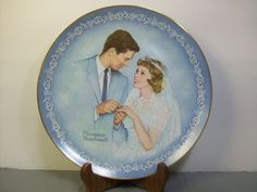 "Norman Rockwell Museum Plate ""With This Ring"" Wedding Bride Groom 1983 No. 3647"