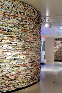 A Museum Exhibit On Books, Made Of 40,000 Books