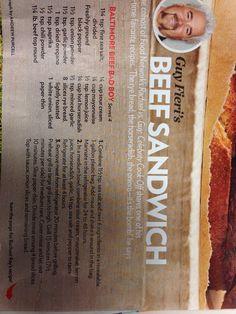 Guy beef sandwich beef sandwich