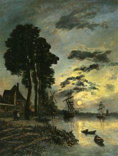 The Entrance to the Port of Rotterdam, circa 1864-1865 by Johan Barthold Jongkind (Dutch,1819 - 1891)
