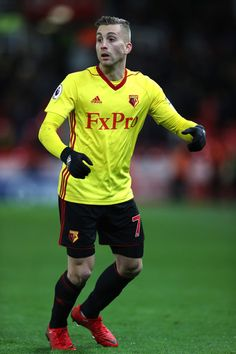 Gerard Deulofeu of Watford looks on during the Premier League match between Stoke City and Watford at Bet365 Stadium on January 31, 2018 in Stoke on Trent, England.