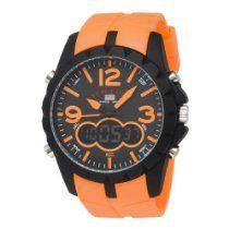 U.S. Polo Assn. Men's US9057 Analog-Digital Black Dial Orange Rubber Strap Watch  From U.S. Polo Assn.  Price:$21.99