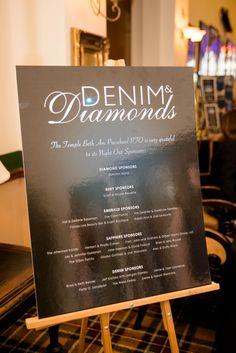 Denim  Diamonds - sponsor board