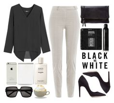 """Not Just Black & White"" by sherieme ❤ liked on Polyvore featuring Oribe, Chanel, Steffen Schraut, Rupert Sanderson, Sole Society, Yves Saint Laurent, blackandwhite, velvet, stylebop and blackandwhitefashion"