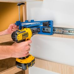 Rockler Universal Drawer Slide Jig. Install drawer slides quickly, accurately and more easily than ever with this innovative jig! #rocklerdreamworkshop