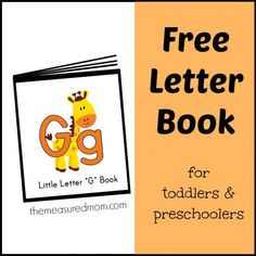 Letter Gg Book (free; from The Measured Mom)