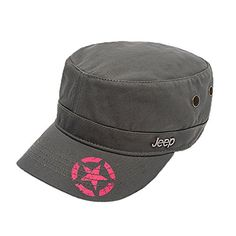 Jeep Unisex Star Print Adjustable Military Cap Hat