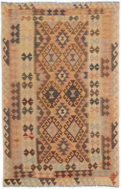 Kelim Afghan Old style tapijt NAZB1528