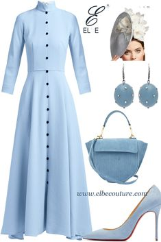 Elbe Couture House is a comprehensive collection of Women Outfit Inspirations. Easter Sunday service look inspiration spreading love Classy Outfits, Chic Outfits, Beautiful Outfits, Trendy Outfits, Dress Outfits, Girls Fashion Clothes, Modest Fashion, Fashion Dresses, Elegant Dresses