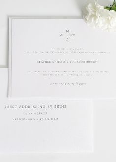 Simple and Classic Wedding Invitations.