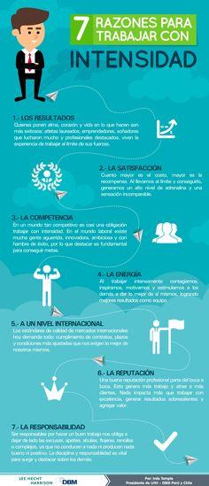 7 razones para trabajar con intensidad #infografia
