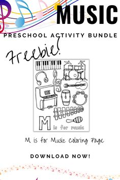 M is for Music Preschool Activities and Printables.  Fun and engaging book-based preschool activities and printables. Repin and download the freebie from readingtodiscover.com. These activities include music playlists and book ideas for your preschooler or kindergartener.  #readingtodiscover #preschoolactivities #musicpreshoolactivity #musicactivity #alphabetactivity #lettermpreschoolactivity #mactivity Letter M Activities, Preschool Music Activities, Preschool Education, Preschool At Home, Preschool Worksheets, Toddler Preschool, Toddler Activities, Preschool Activities, Learning The Alphabet