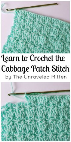 Cabbage Patch Stitch | Free Crochet Tutorial | The Unraveled Mitten | Crochet Stitches | Textured | Unique | Step by Step