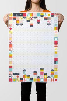 Large Wall Calendar, 2018 Wall Planner, UK Calendar, 2018 Wall Calendar,  2018 Planner, Year Planner, Paper Wall Planner, Year Calendar 63827cd5da