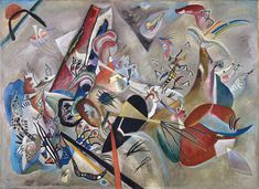 """Wassily Kandinsky. In Grey, 1919Oil on canvas 50.8 × 69.3"""" (129.0 × 176.0 cm) Paris, Centre Georges Pompidou"""